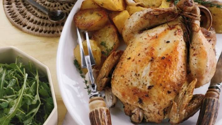 Recipe Roast Chicken With Lemon And Creme Fraiche Sauce Stuff
