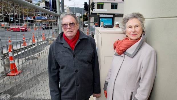 Building owners Roger and Marion Kiddle are furious Wellington City Council have put up an encroaching structure right ...
