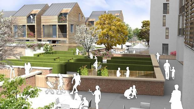 An artist's impression of the winning Breathe Urban Village design.