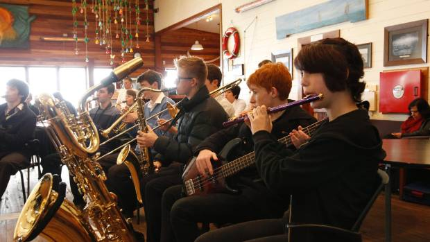 Students perform at last year's youth jazz competition at the Boat House.