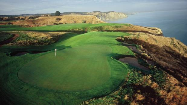 The Cape Kidnappers course's signature hole is dubbed Pirate's Plank.