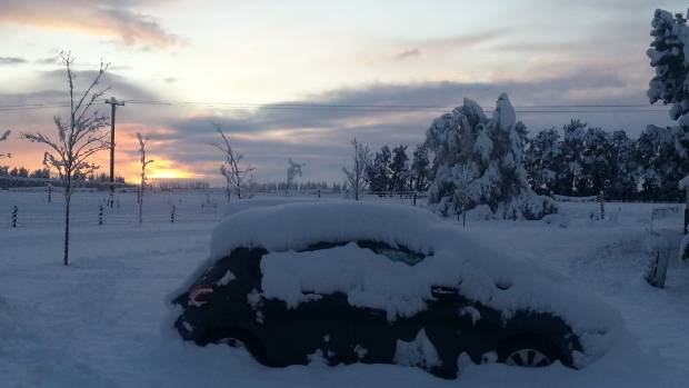 Heavy snow could be coming for the South Island again, with the chance of a flurry for Christchurch. Sunrise in Anama ...