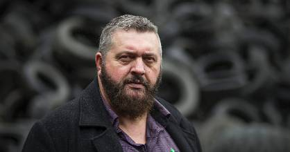 Alvin Cobb has been ordered by the Waikato Regional Council to stop collecting tyres.