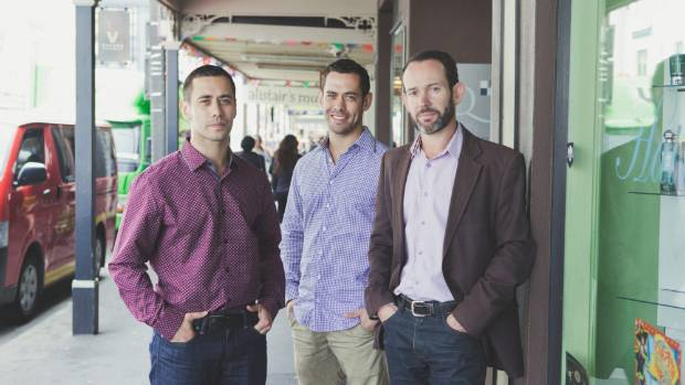 Co-founders at Collect, cloud computer based loyalty company (from left): Matt Thomas, Brady Thomas and Brent Spicer.
