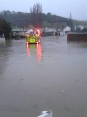 Flooding in Savage Cres, Whanganui.