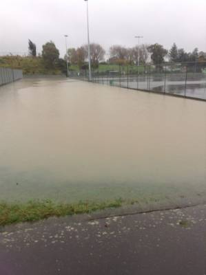 Playing netball at the Vautier Park netball courts in Palmerston North may be a bit tricky today.