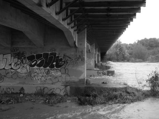 Under the overpass near Feilding.