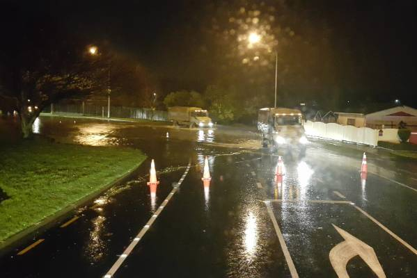 Overnight flooding in Palmerston North.
