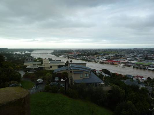 The Whanganui River's flood levels are the highest on record.