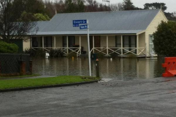 In Palmerston North, Escort Grove's flood waters are believed to be contaminated with sewage.