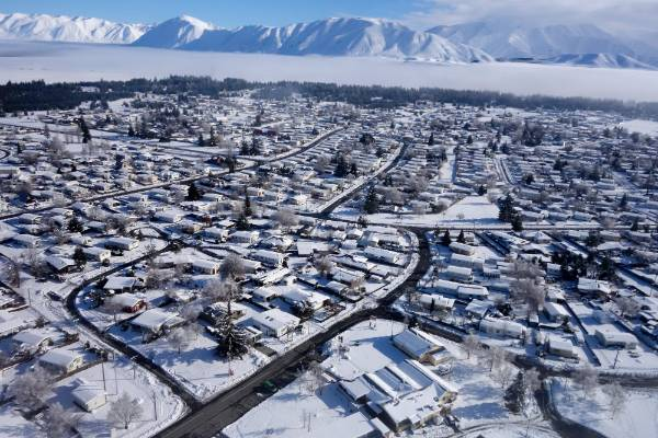Aerial view of Twizel.