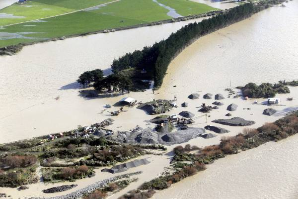Manawatu River, south of Palmerston North, has flooded parts of the lower North Island.