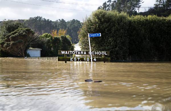 The small South Taranaki town of Waitotara is under water after heavy rain over the weekend of June 19 and 20.