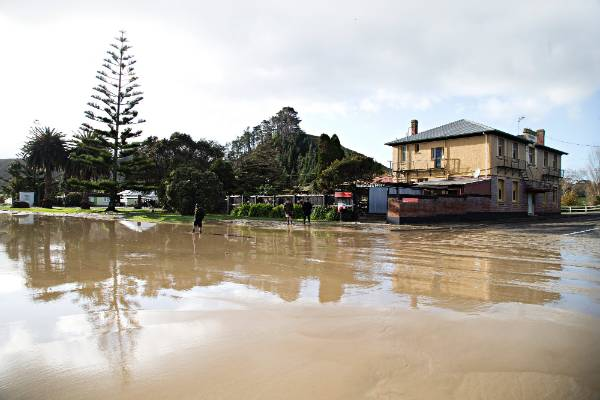 The small South Taranaki town of Waitotara is in for a some heavy duty clean up after the Waitotara river burst its ...