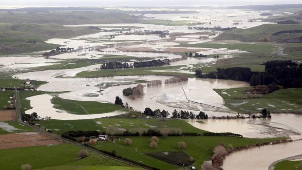 The Whangaehu River in flood.