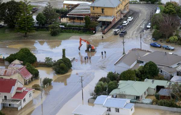 The clean-up of Waitotara was already underway, just hours after flood waters receded.