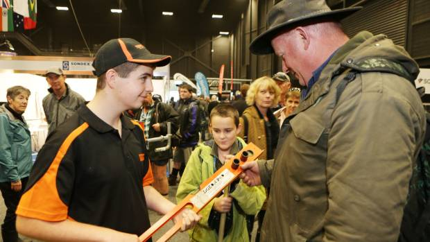 Patrick Roskam at this year's Fieldays.
