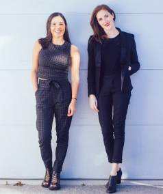Christchurch founders of fashion label BlackEyePeach Natalia Baird and Lucille Ness.