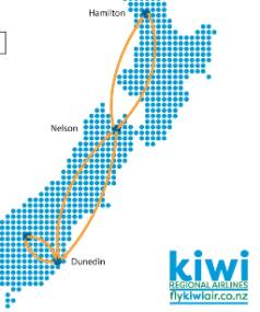 Kiwi Regional Airlines has announced the first four routes it will operate daily, from September 27.