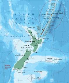The Kermadec Ocean Sanctuary will be located to the north-east of New Zealand.