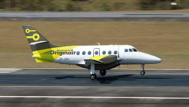 Originair's first flight from Nelson to Palmerston North arrived on August 12.