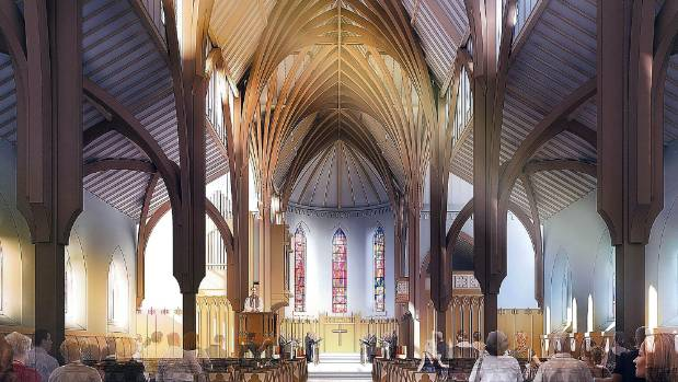 Sir Miles Warren's scheme to repair the earthquake-damaged Christ Church Cathedral was presented to councillors on Monday.