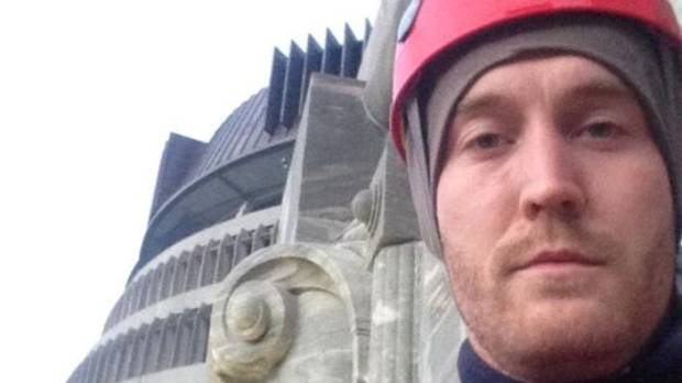 A selfie of Greenpeace protester Jeff Harrison.