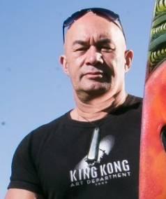 Artist Bino Smith helped create some of the playground at Sir Peter Jackson's Wairarapa estate.
