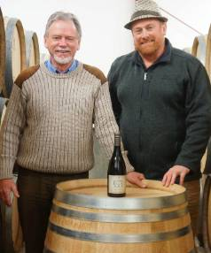 Murdoch James Estate vineyard founder Roger Fraser, left, with son Carl, who is the winemaker.