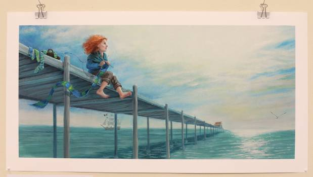 """The fierce little woman lived in a house at the end of the jetty..."""
