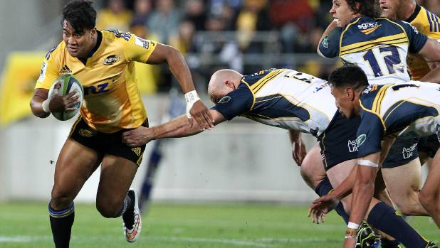 The Hurricanes' Julian Savea in action at the Cake Tin.