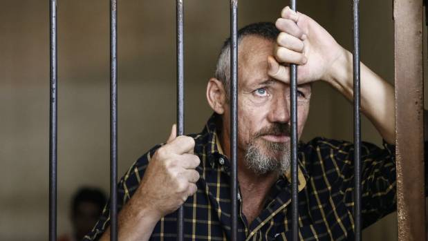 Antony de Malmanche inside a holding cell in Bali, Indonesia. He was sentenced to 15 years' jail in 2015.