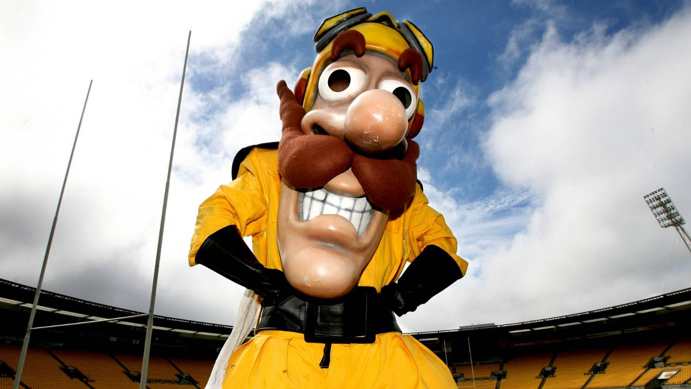 Man Behind Hurricanes Captain Hurricane Bows Out After 21 Years As A Mascot Stuff Co Nz