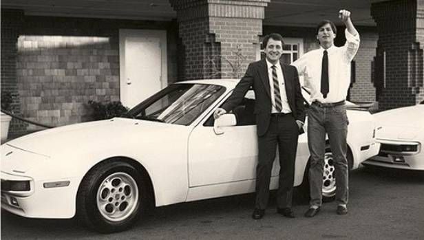 Steve Jobs, right, gave the 23-year old Craig Elliott a Porsche after he sold more Macintosh computers than anyone else ...