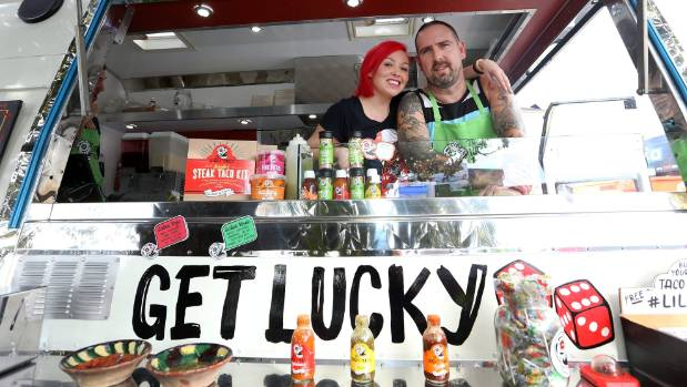 Lucky Taco owners Sarah and Otis Frizzell are looking to raise $100,000 to get their products into supermarkets.