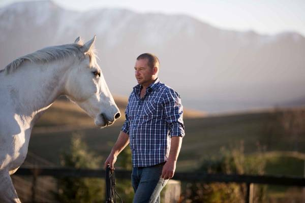 The bond between Andrew and his horses is the result of years of patience and gentle methods.