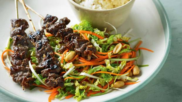 Recipe: Sticky lemongrass beef skewers with chinese ...