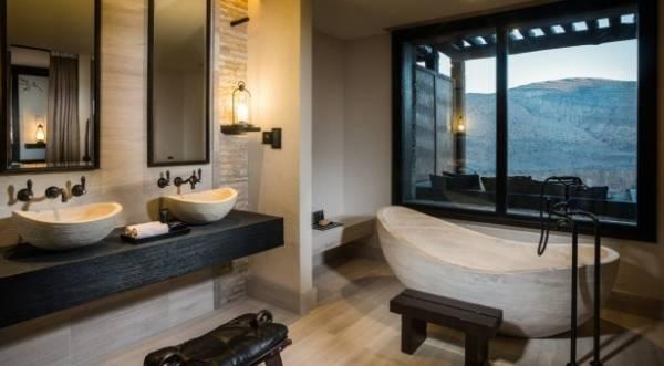 Alila Jabal Akhdar Omani Mountain Resort The 800 Kilogram Stone Bathtub Provides For