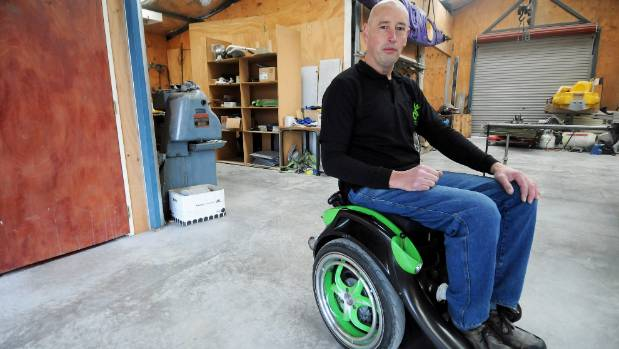 Kevin Halsall on his Ogo - a hands-free electric wheelchair created from a rebuilt Segway.