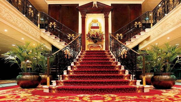 Make an entrance by gliding down the Grand Staircase.