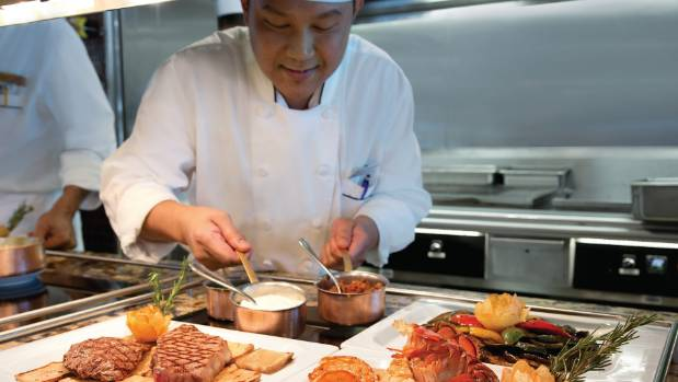 Cooked-to-order cuisine at Insignia's Terrace Cafe Grill.