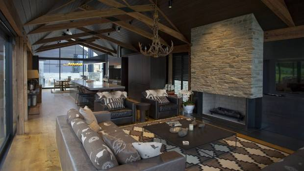 The interior of a Wanaka house, which resulted in Breen Construction Company scoring the Supreme Award for Southern ...