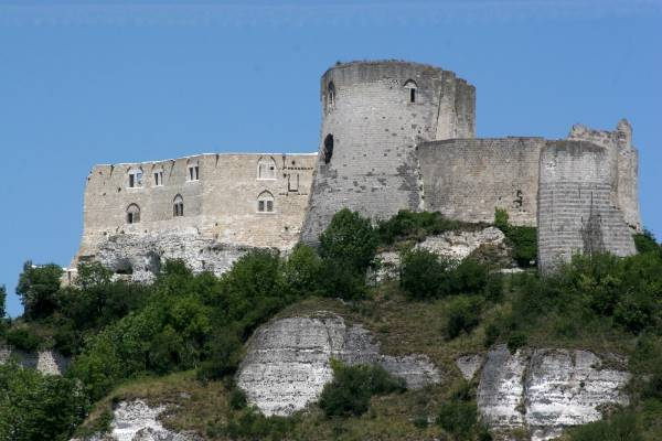 Chateau Gaillard in Les Andelys, the former stronghold of Richard the Lionheart, then Duke of Normandy.