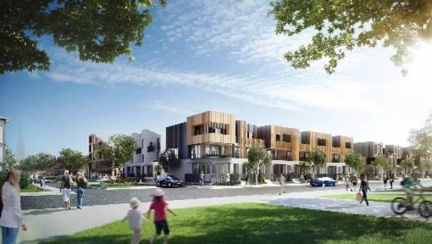 An artist's impression of some of the 940 homes planned for Christchurch's east frame.