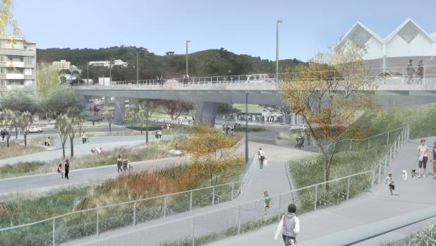 The Basin Reserve flyover was the NZ Transport Agency's proposed solution to congestion plaguing the roundabout outside ...