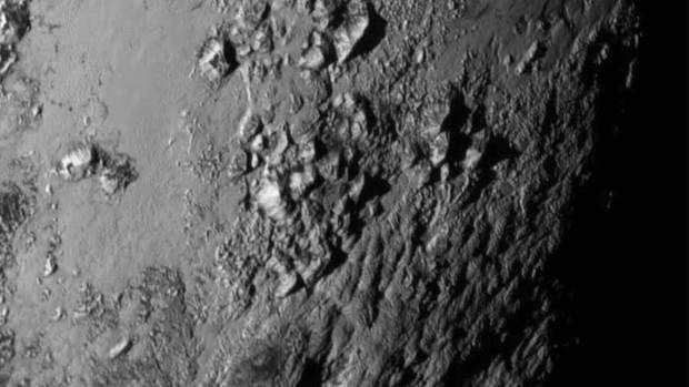 Mountains as high as 3.3km above the equator of the dwarf planet Pluto. Photos have also shown that the surface of Pluto ...