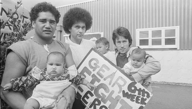 Striking Gear Meat workers and their children pictured on April 6, 1981, as a six-week dispute neared its end. From ...