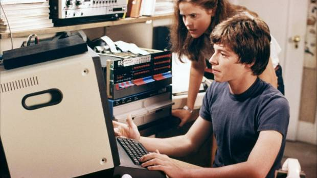 Ally Sheedy and Matthew Broderick in the 1983 film WarGames, where a young boy mistakes a missile defence programme for ...
