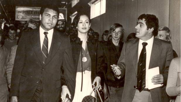 Upper hutt had ringside seats to muhammad ali show 150 years of muhammad ali with wife veronica porsche is interviewed by evening post reporter paul elenio thecheapjerseys Choice Image