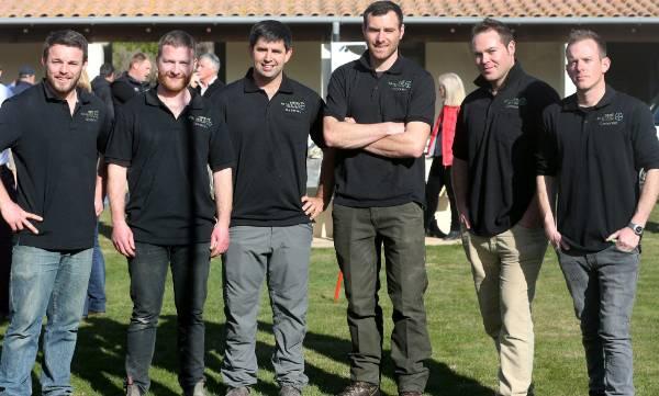 Young Viticulturist of the Year Marlborough finalists, from left, Matt Duggan, Anthony Walsh, Brenton O'Riley, Kurtis ...